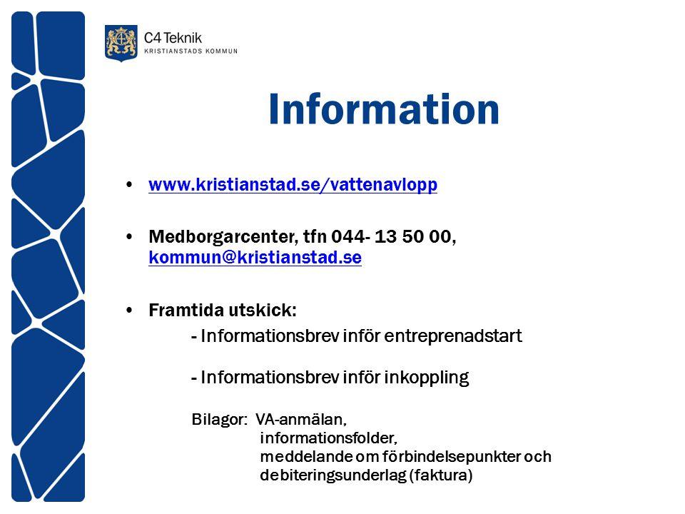 Information www.kristianstad.se/vattenavlopp