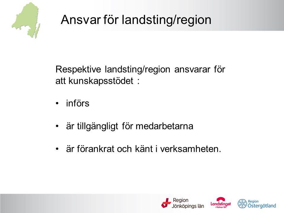 Ansvar för landsting/region