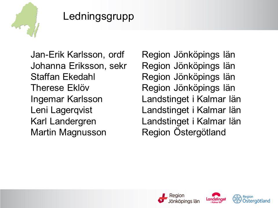 Ledningsgrupp Jan-Erik Karlsson, ordf Region Jönköpings län