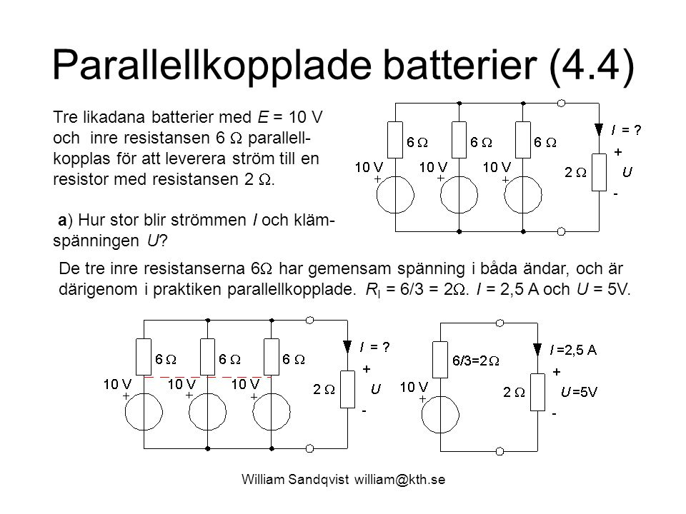 Parallellkopplade batterier (4.4)