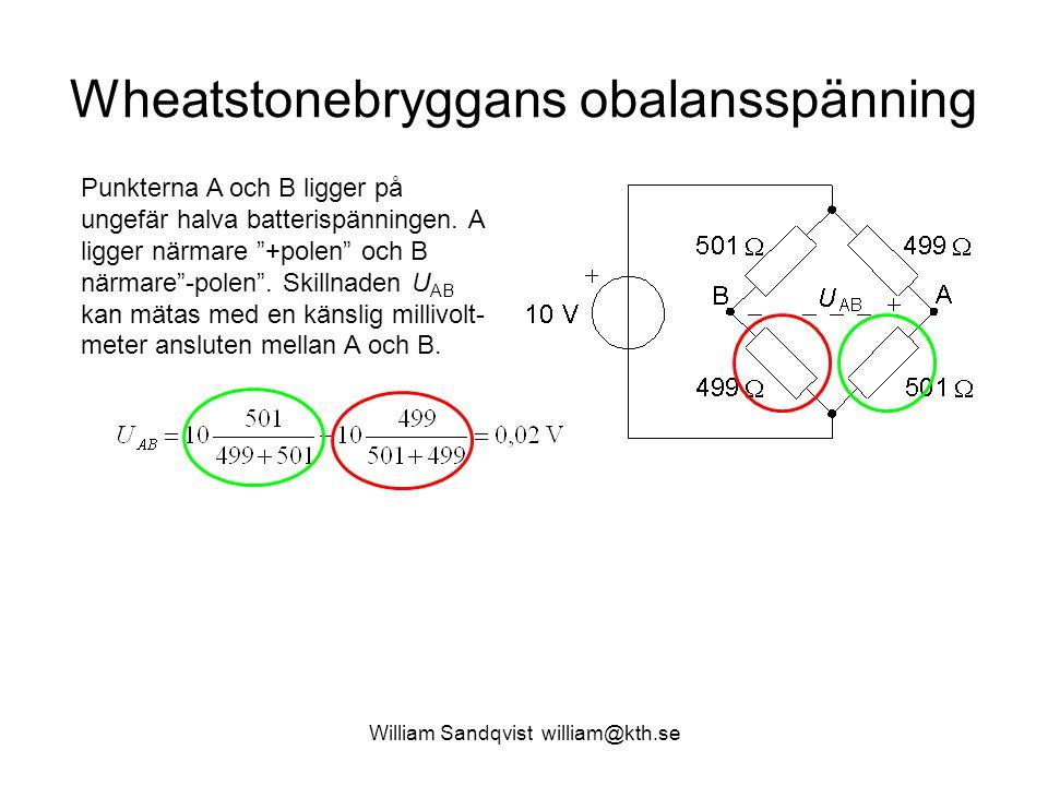 Wheatstonebryggans obalansspänning