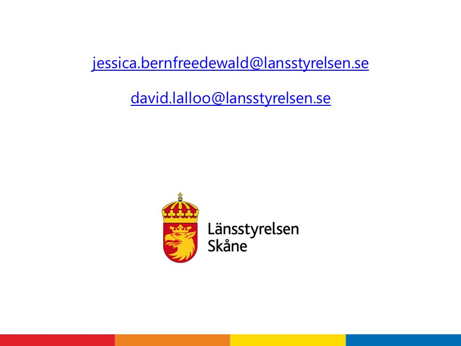 jessica.bernfreedewald@lansstyrelsen.se david.lalloo@lansstyrelsen.se