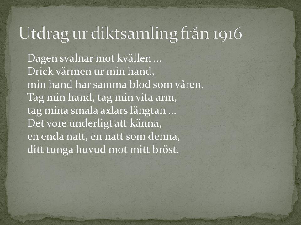 Utdrag ur diktsamling från 1916