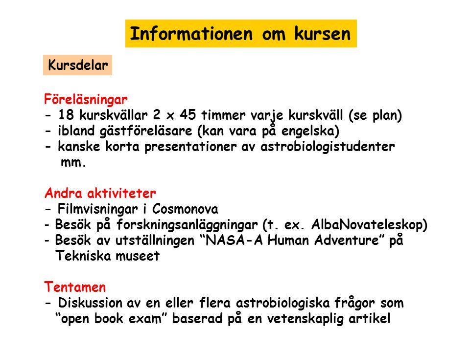 Informationen om kursen