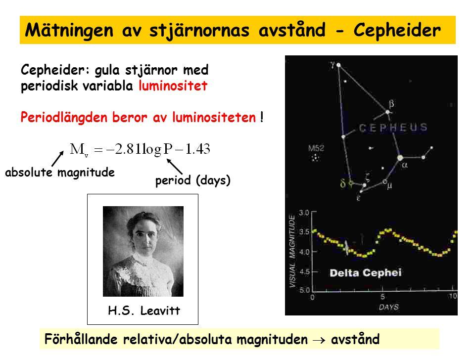 Mätningen av stjärnornas avstånd - Cepheider