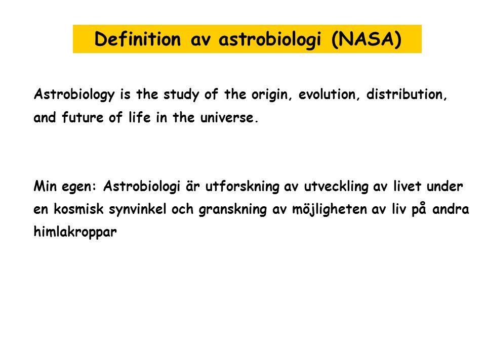 Definition av astrobiologi (NASA)