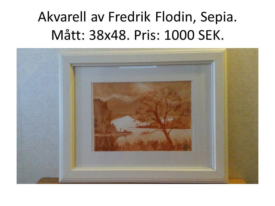 Akvarell av Fredrik Flodin, Sepia. Mått: 38x48. Pris: 1000 SEK.
