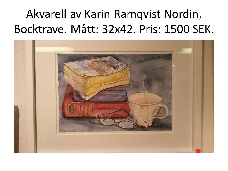 Akvarell av Karin Ramqvist Nordin, Bocktrave. Mått: 32x42