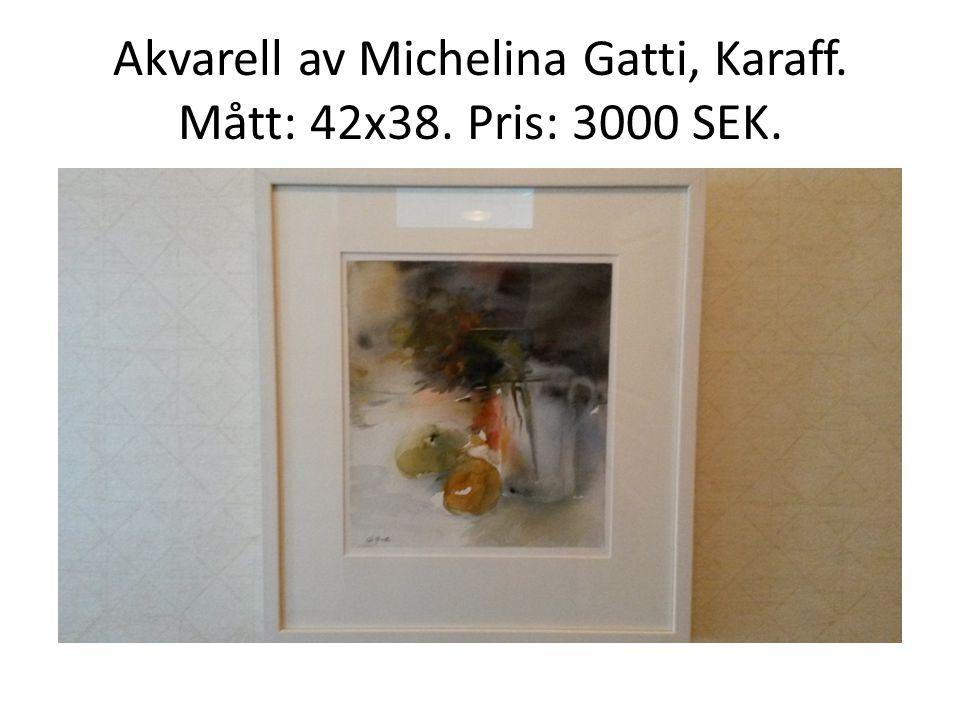 Akvarell av Michelina Gatti, Karaff. Mått: 42x38. Pris: 3000 SEK.