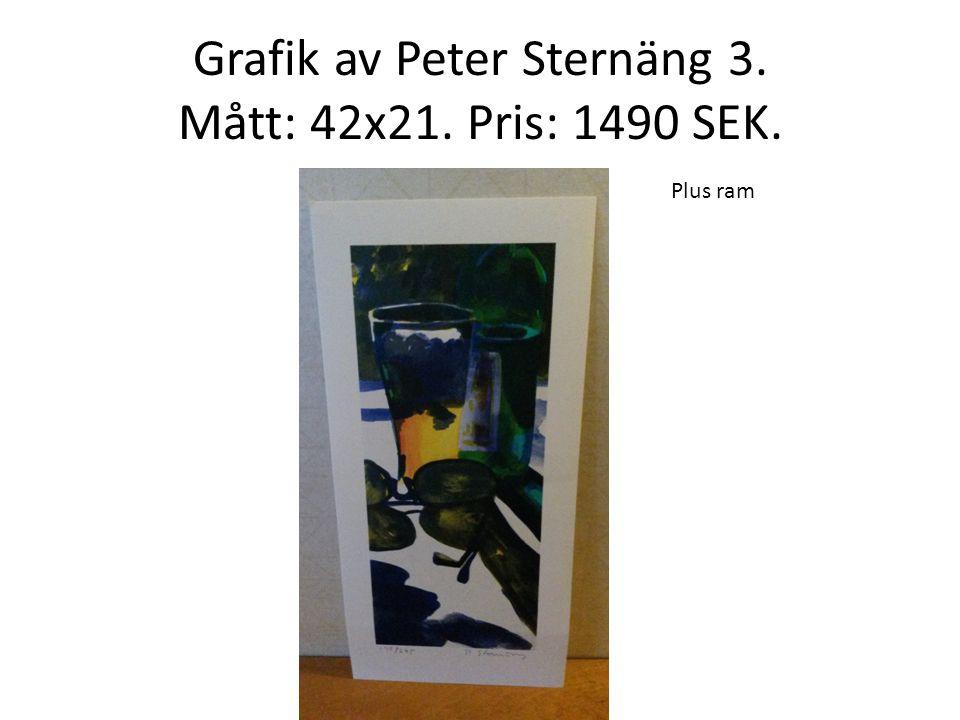 Grafik av Peter Sternäng 3. Mått: 42x21. Pris: 1490 SEK.