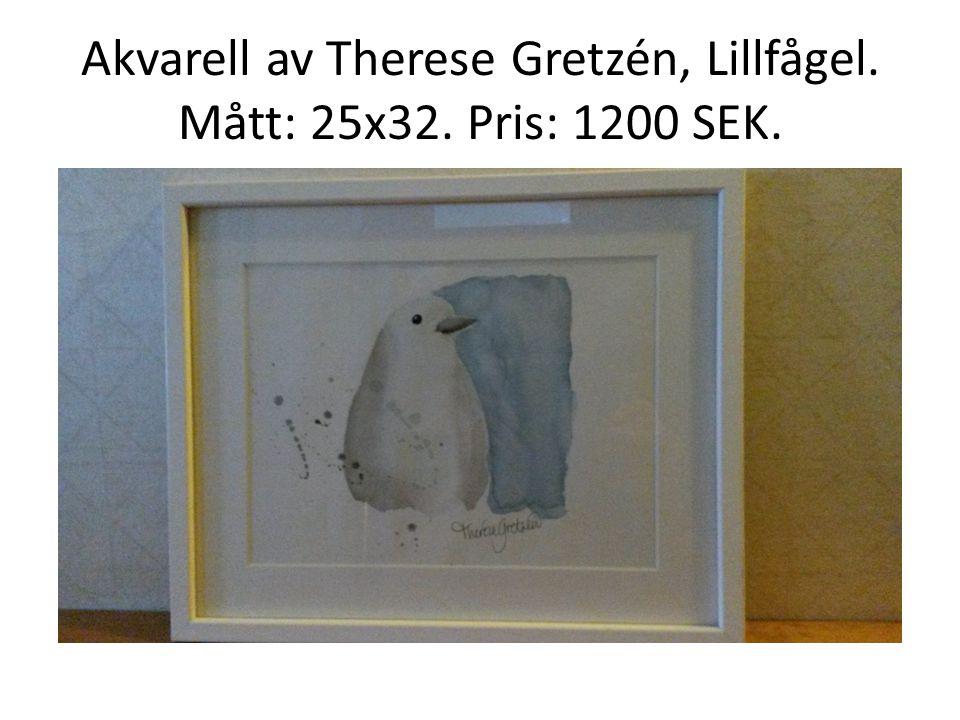 Akvarell av Therese Gretzén, Lillfågel. Mått: 25x32. Pris: 1200 SEK.