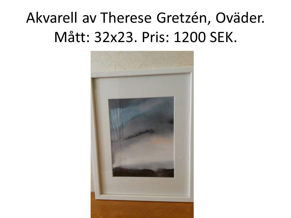 Akvarell av Therese Gretzén, Oväder. Mått: 32x23. Pris: 1200 SEK.