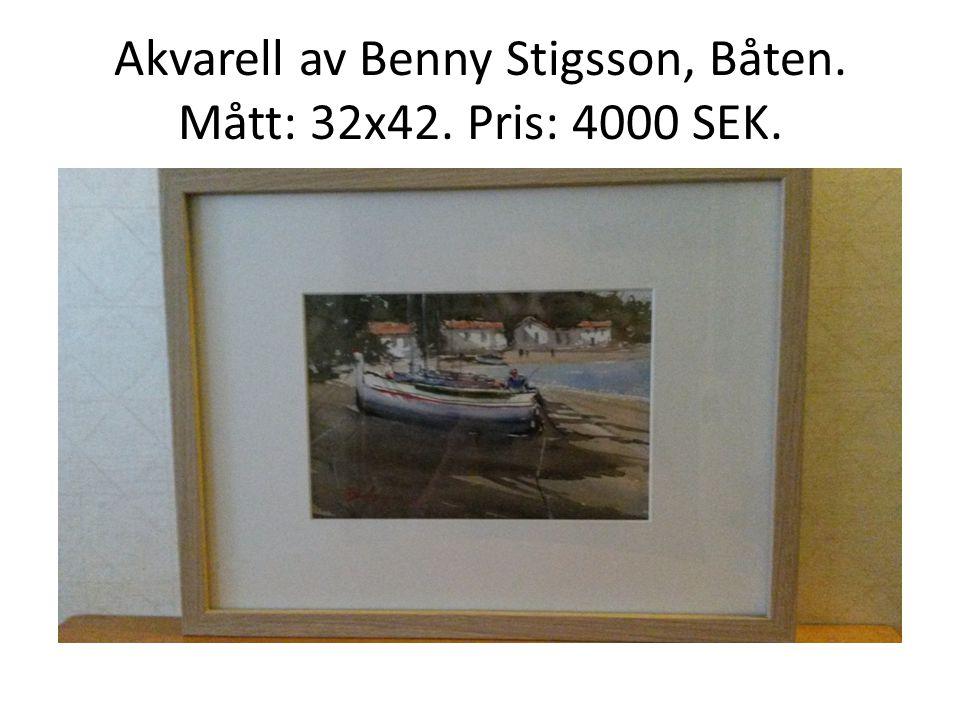 Akvarell av Benny Stigsson, Båten. Mått: 32x42. Pris: 4000 SEK.