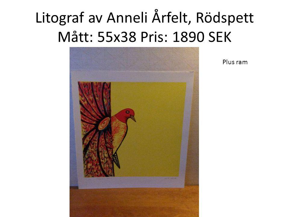 Litograf av Anneli Årfelt, Rödspett Mått: 55x38 Pris: 1890 SEK
