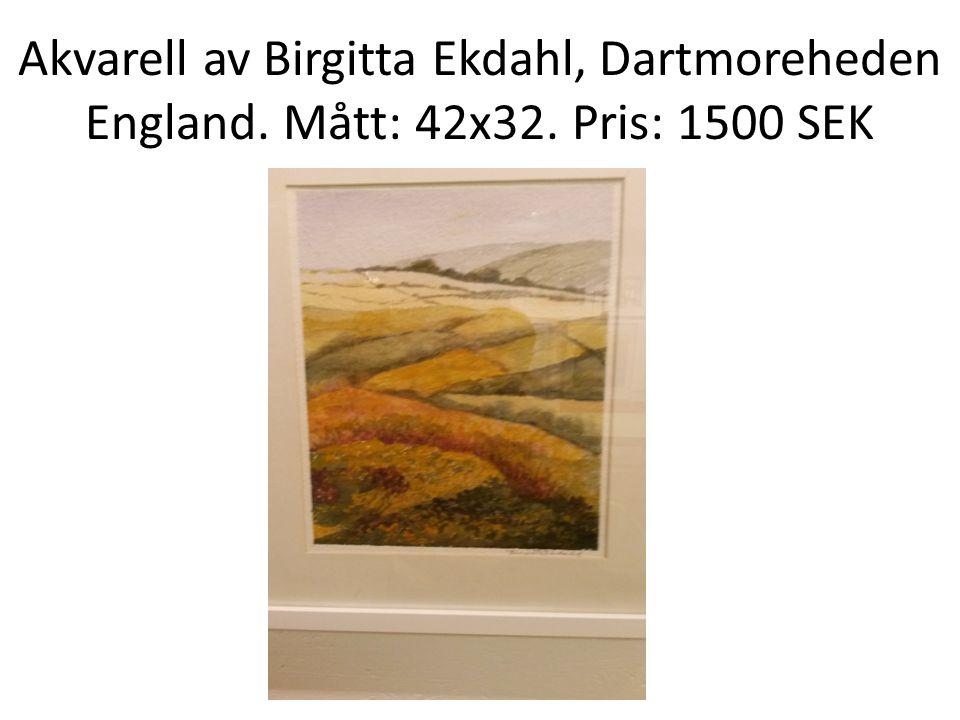 Akvarell av Birgitta Ekdahl, Dartmoreheden England. Mått: 42x32