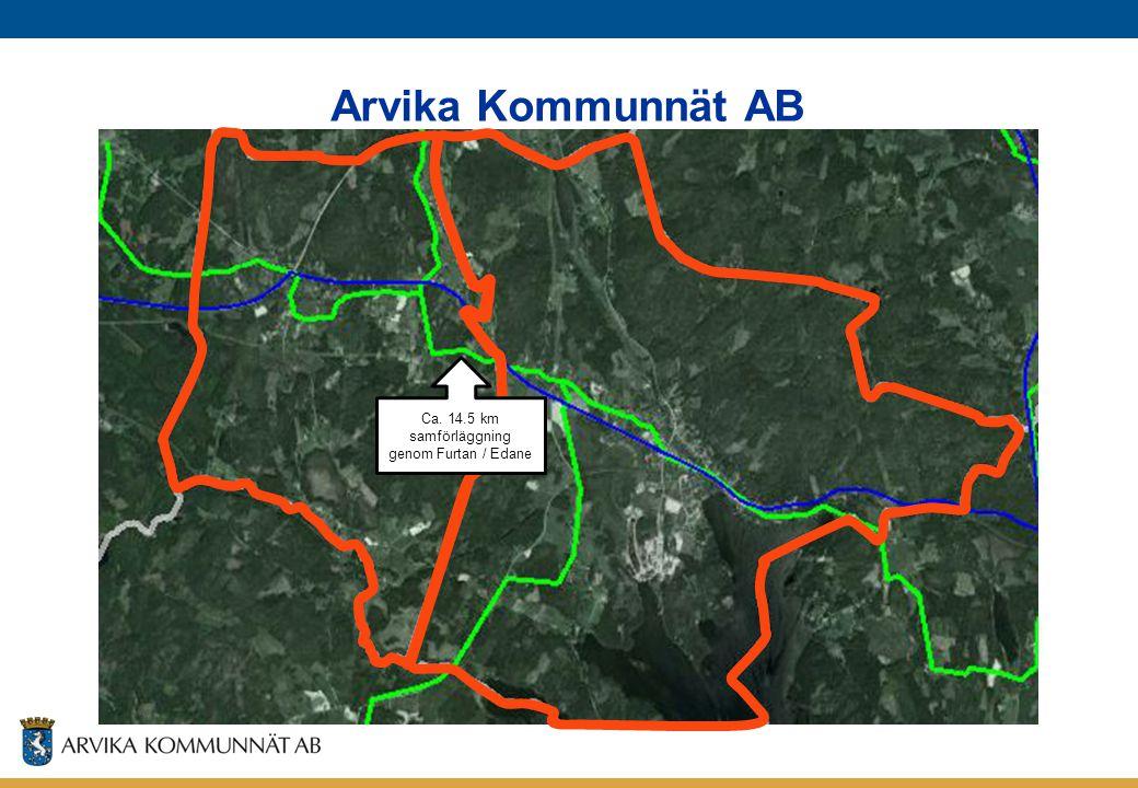 Ca. 14.5 km samförläggning genom Furtan / Edane