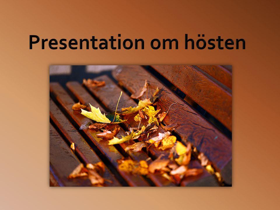 Presentation om hösten