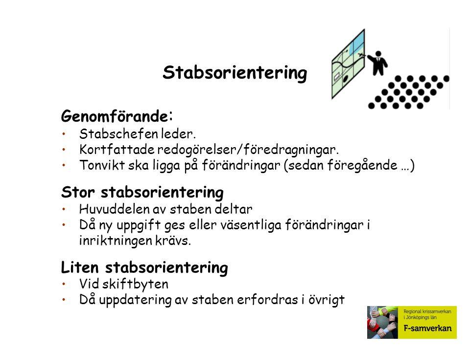 Stabsorientering Genomförande: Stor stabsorientering