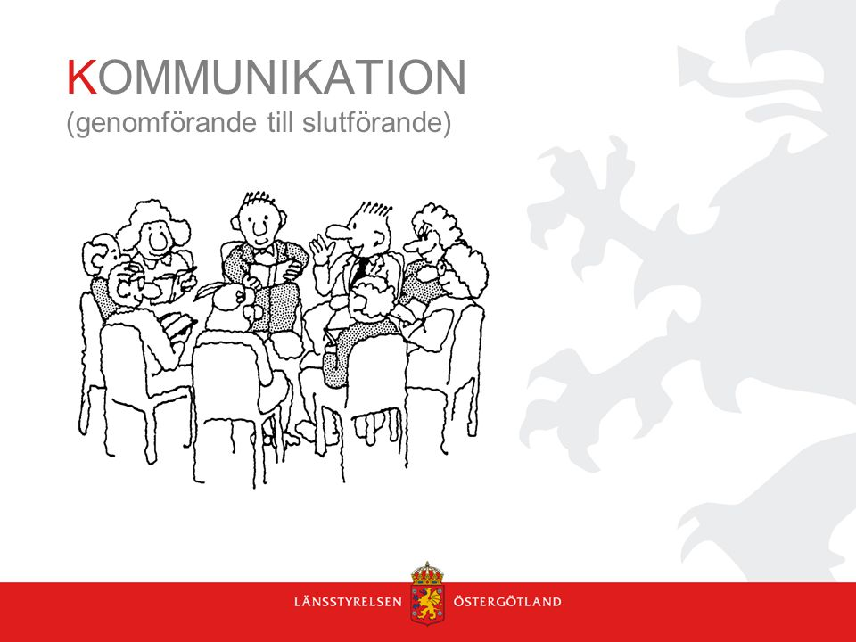 KOMMUNIKATION (genomförande till slutförande)