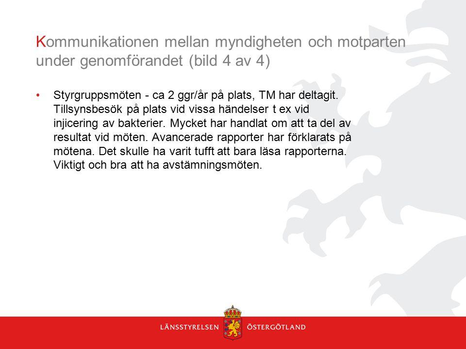 Kommunikationen mellan myndigheten och motparten under genomförandet (bild 4 av 4)