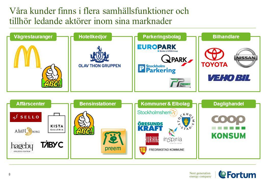 Våra kunder finns i flera samhällsfunktioner och tillhör ledande aktörer inom sina marknader