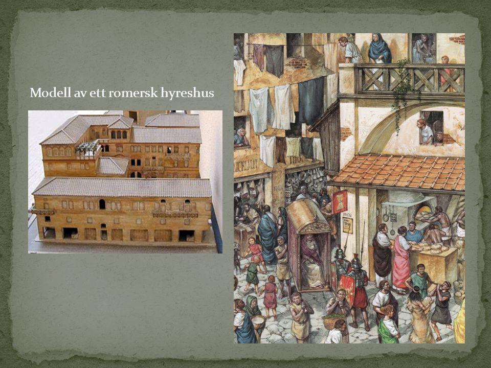 Modell av ett romersk hyreshus