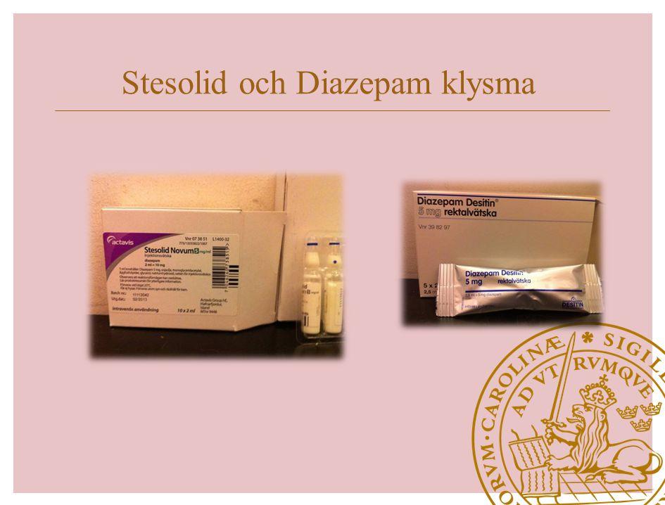 Stesolid och Diazepam klysma