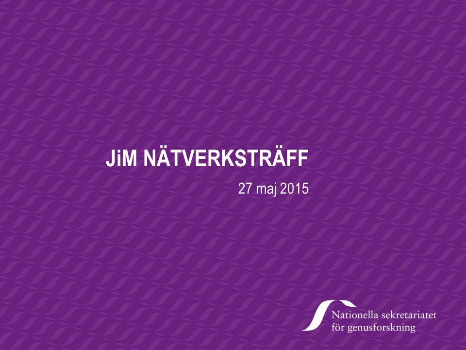 JiM NÄTVERKSTRÄFF 27 maj 2015 Lillemor