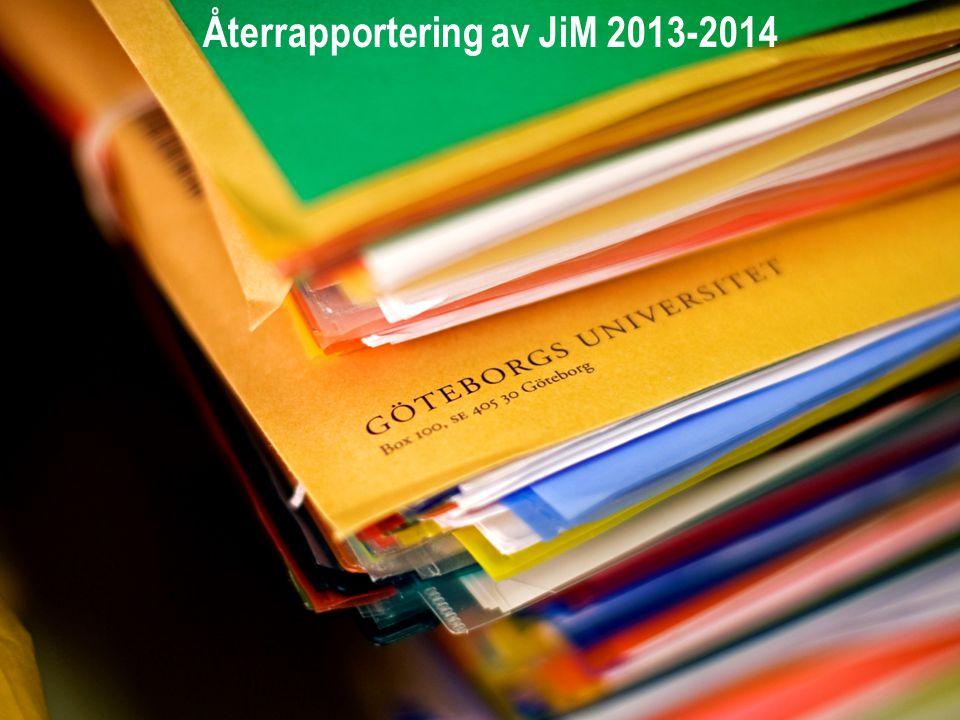 Återrapportering av JiM 2013-2014