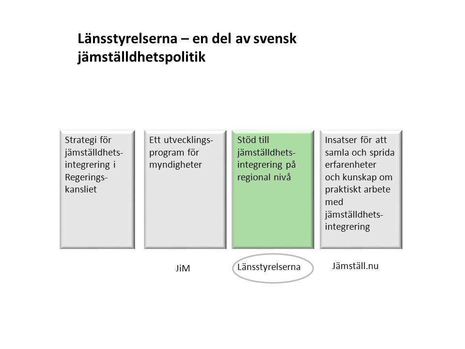 Länsstyrelserna – en del av svensk jämställdhetspolitik