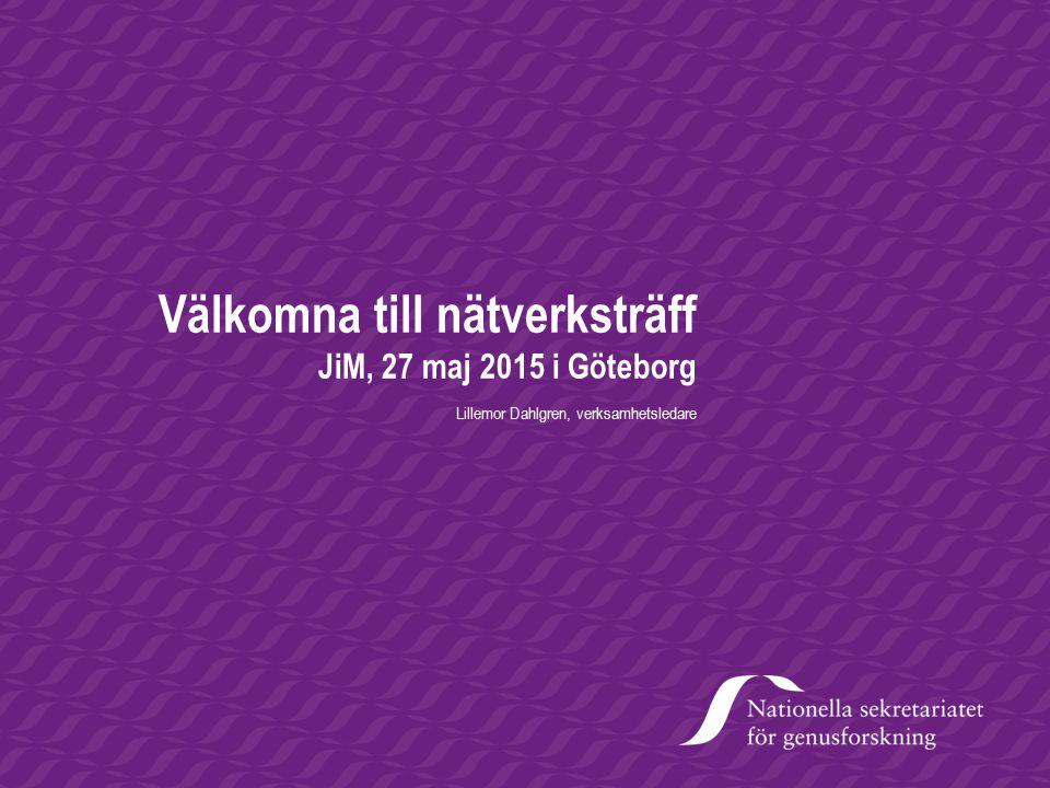 Välkomna till nätverksträff JiM, 27 maj 2015 i Göteborg