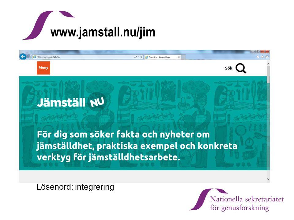www.jamstall.nu/jim Lösenord: integrering Mikael