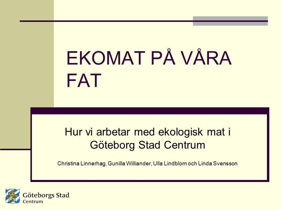 Hur vi arbetar med ekologisk mat i Göteborg Stad Centrum