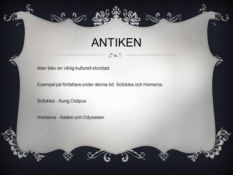 ANTIKEN Aten blev en viktig kulturell storstad.
