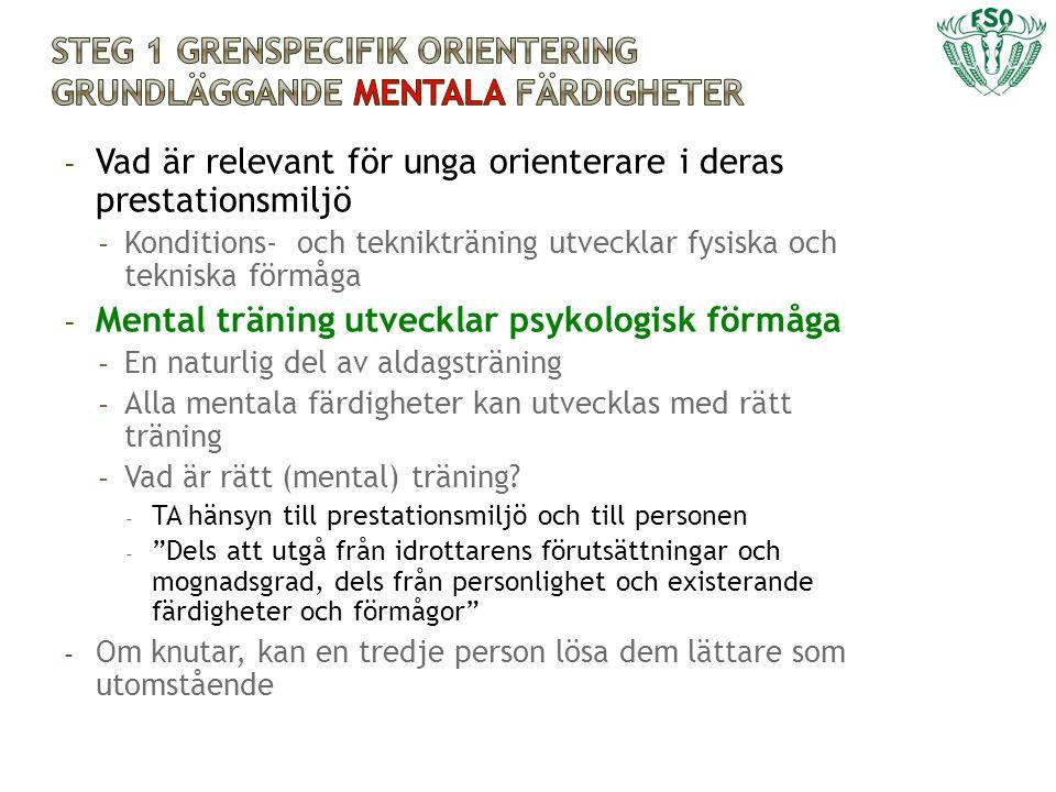 Steg 1 grenspecifik orientering grundläggande mentala färdigheter