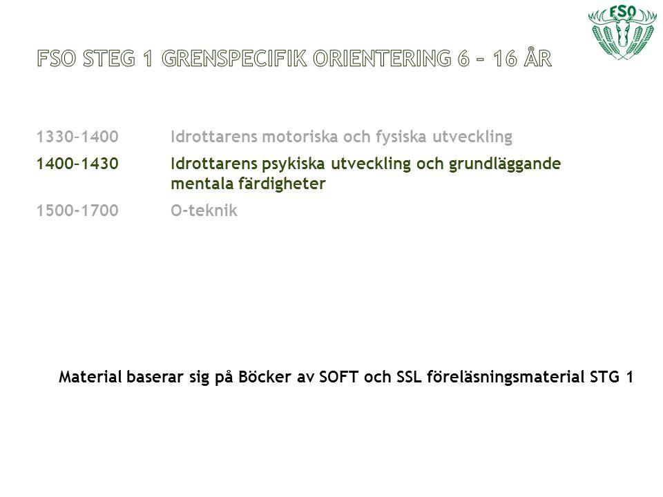 FSO STEG 1 grenspecifik orientering 6 – 16 år
