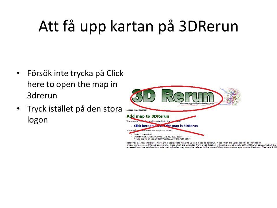 Att få upp kartan på 3DRerun