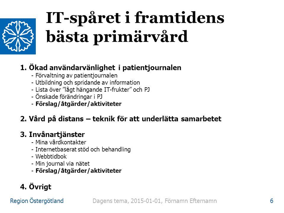 IT-spåret i framtidens bästa primärvård