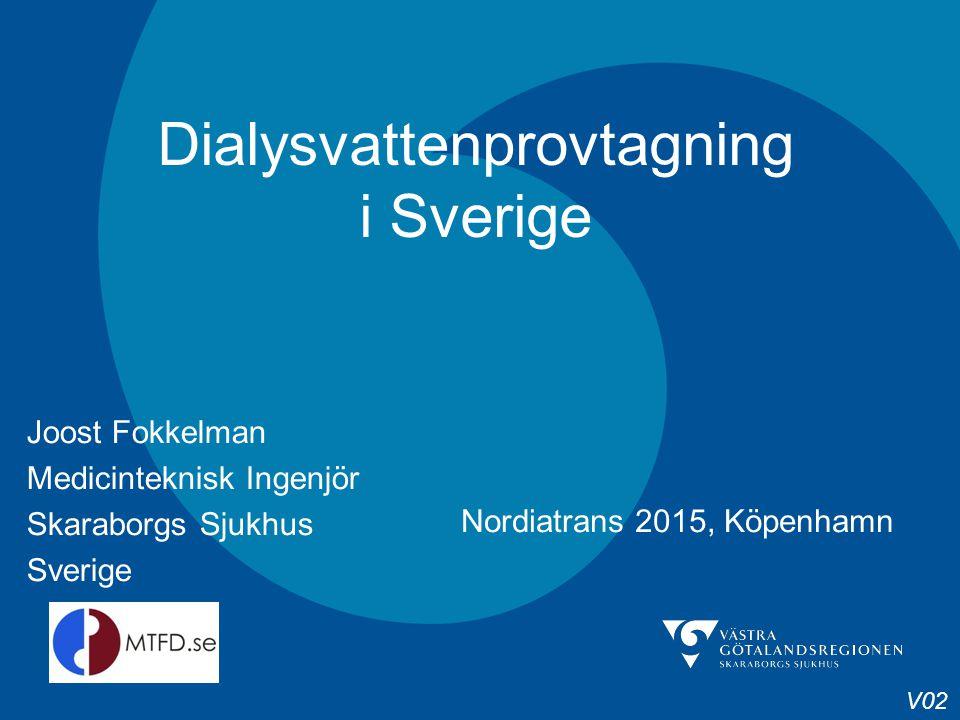 Dialysvattenprovtagning i Sverige