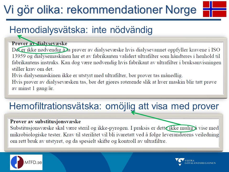 Vi gör olika: rekommendationer Norge