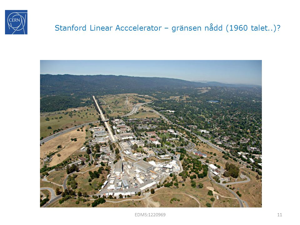 Stanford Linear Acccelerator – gränsen nådd (1960 talet..)