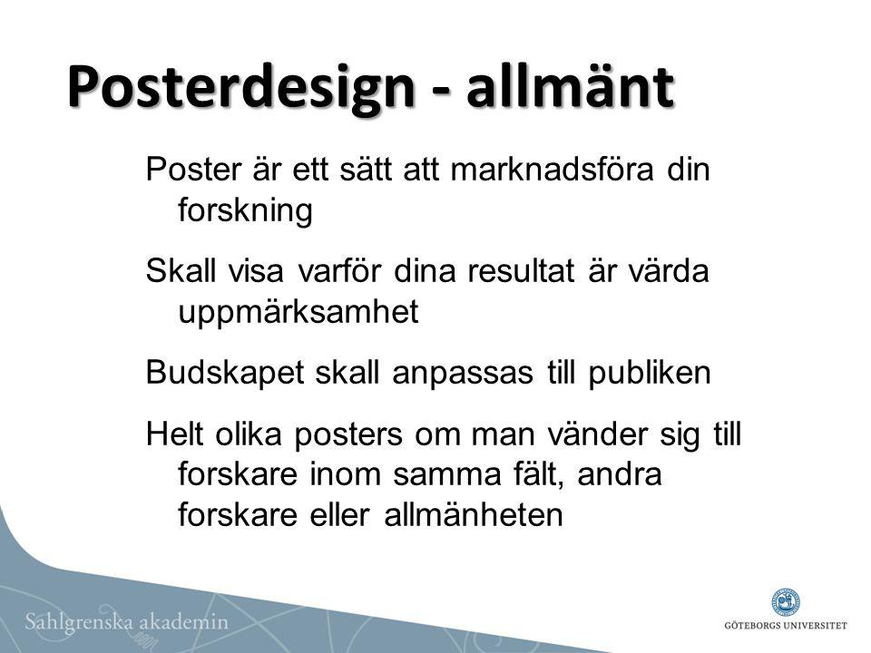 Posterdesign - allmänt