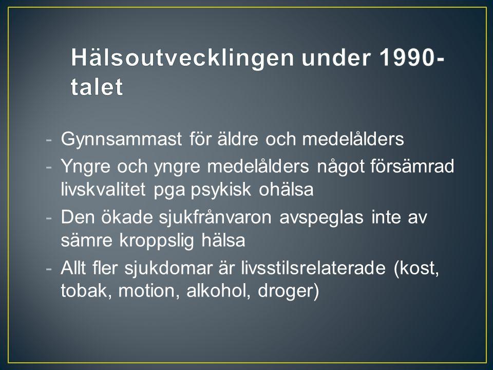 Hälsoutvecklingen under 1990-talet