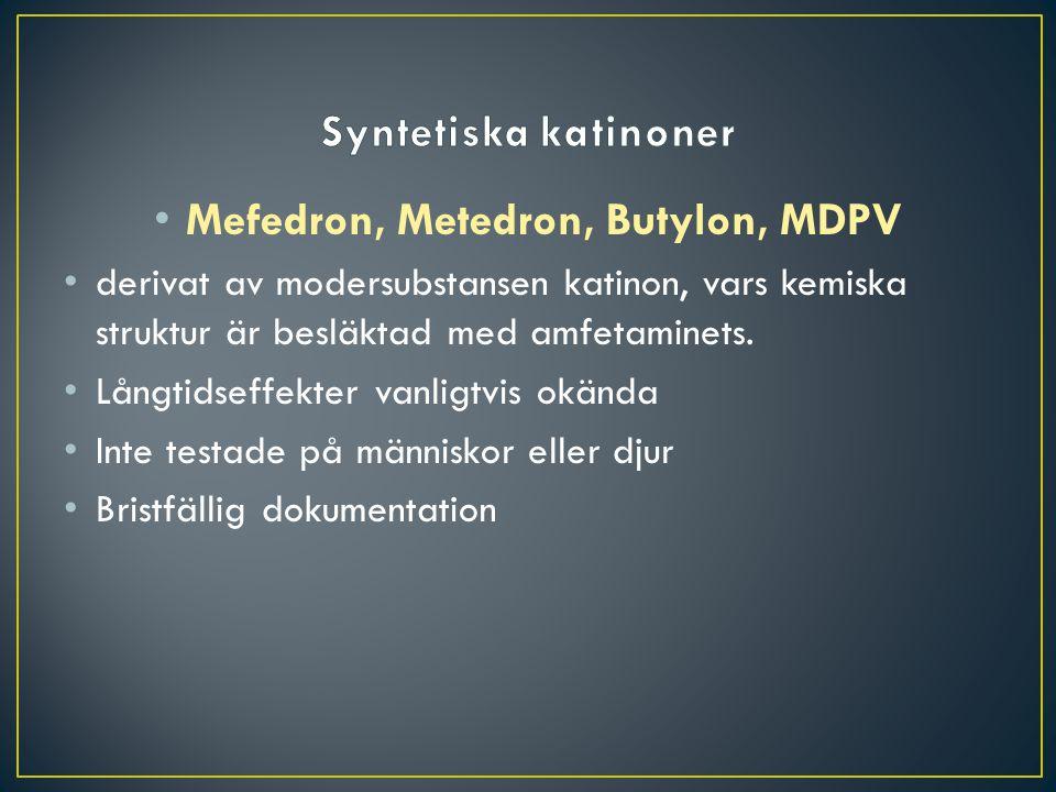 Mefedron, Metedron, Butylon, MDPV
