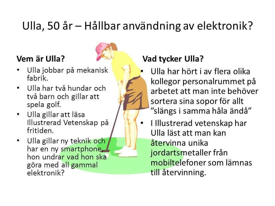 Ulla, 50 år – Hållbar användning av elektronik
