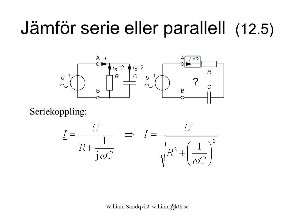 Jämför serie eller parallell (12.5)