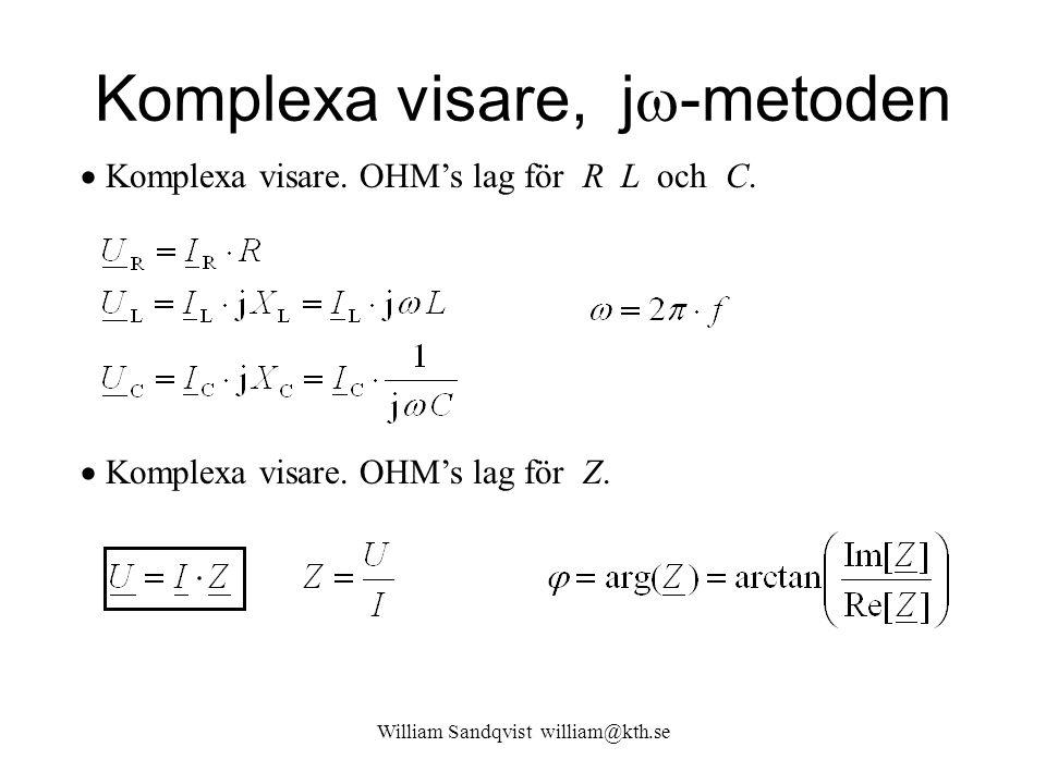 Komplexa visare, j-metoden