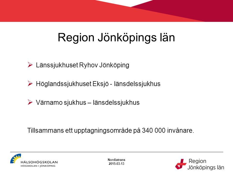 Region Jönköpings län Länssjukhuset Ryhov Jönköping