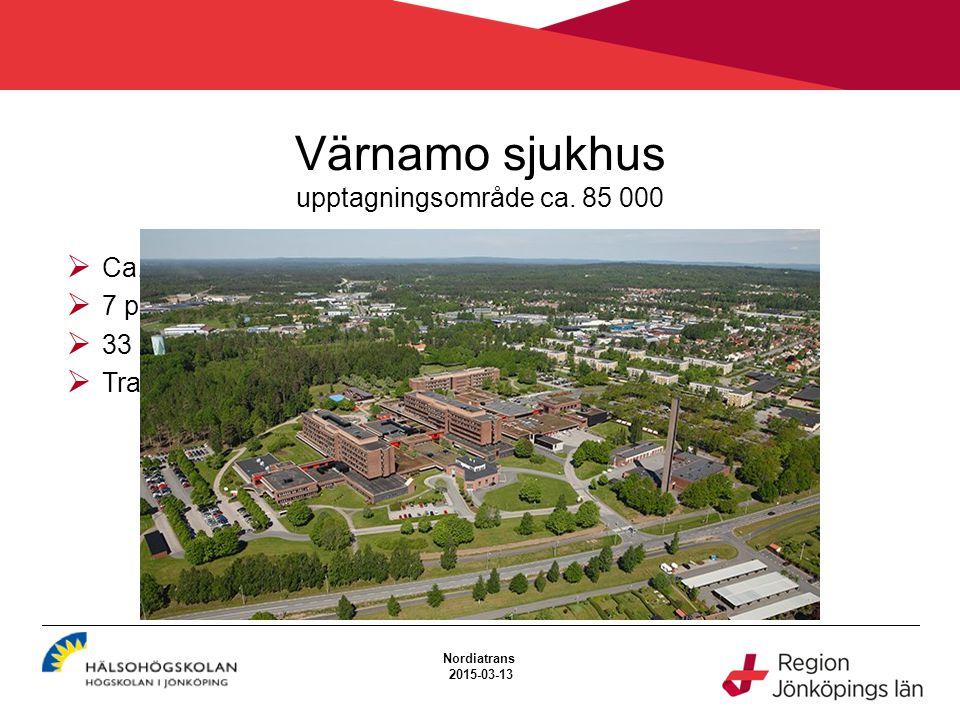 Värnamo sjukhus upptagningsområde ca. 85 000