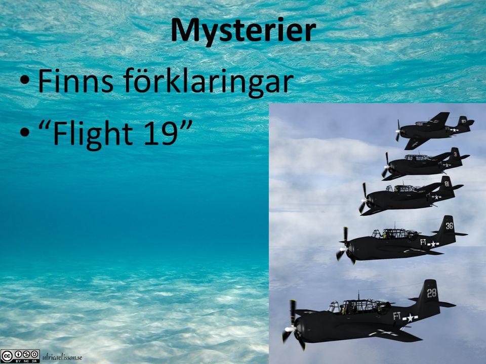 Mysterier Finns förklaringar Flight 19